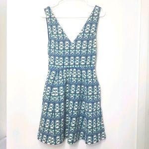 Maeve - Geometric Print Dress w/ Keyhole Back
